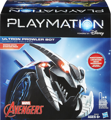 Hasbro - Playmation Marvel Avengers Ultron Prowler Bot - Silver/Blue