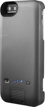 Platinum - External Battery Case for Apple® iPhone® 5 and 5s - Gray