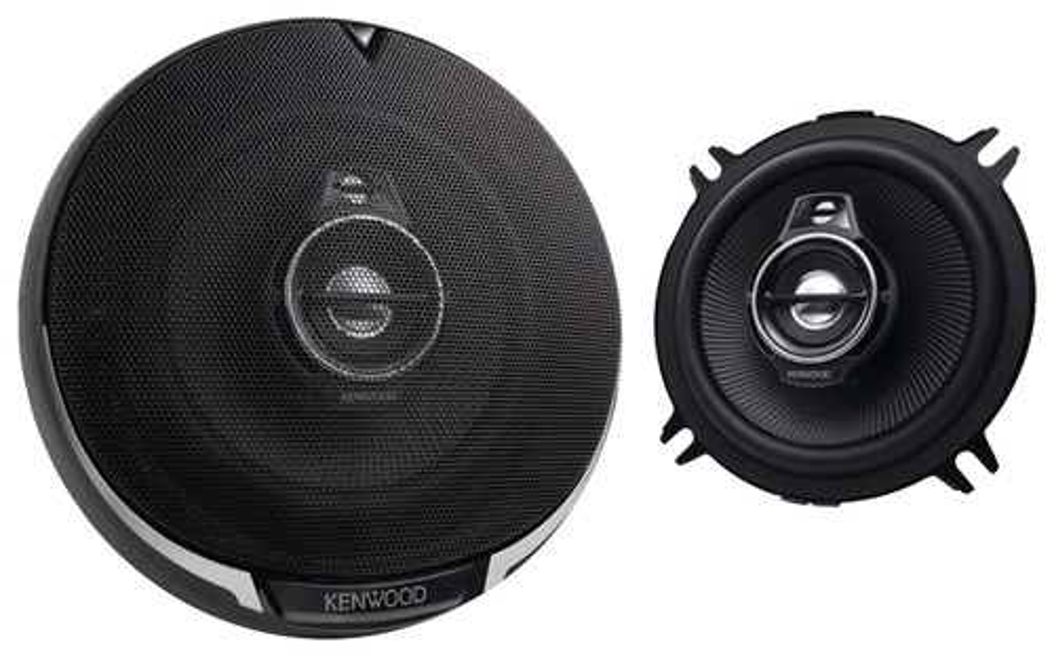 Kenwood - 5.25 3-Way Car Speaker with Paper Cone (Each) - Black