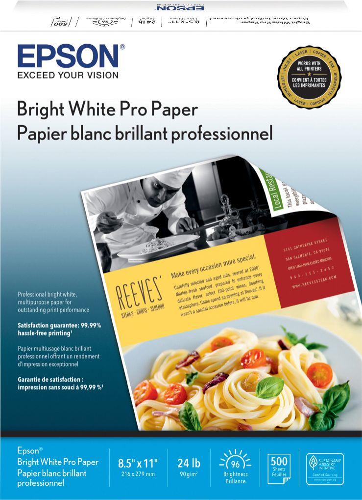 Epson - Bright White Paper - White