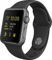 UPC 888462079525 product image for Apple - Apple Watch Sport 38mm Stainless Steel Case - Space Gray Sports Band | upcitemdb.com