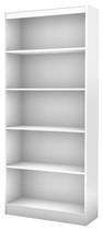 South Shore - 5-Shelf Bookcase - White