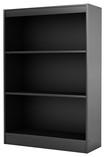 South Shore - 3-Shelf Bookcase - Black