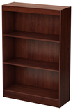 South Shore - 3-Shelf Bookcase - Royal Cherry