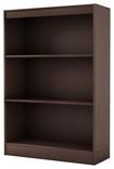 South Shore - 3-Shelf Bookcase - Chocolate