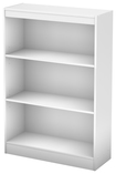 South Shore - 3-Shelf Bookcase - White