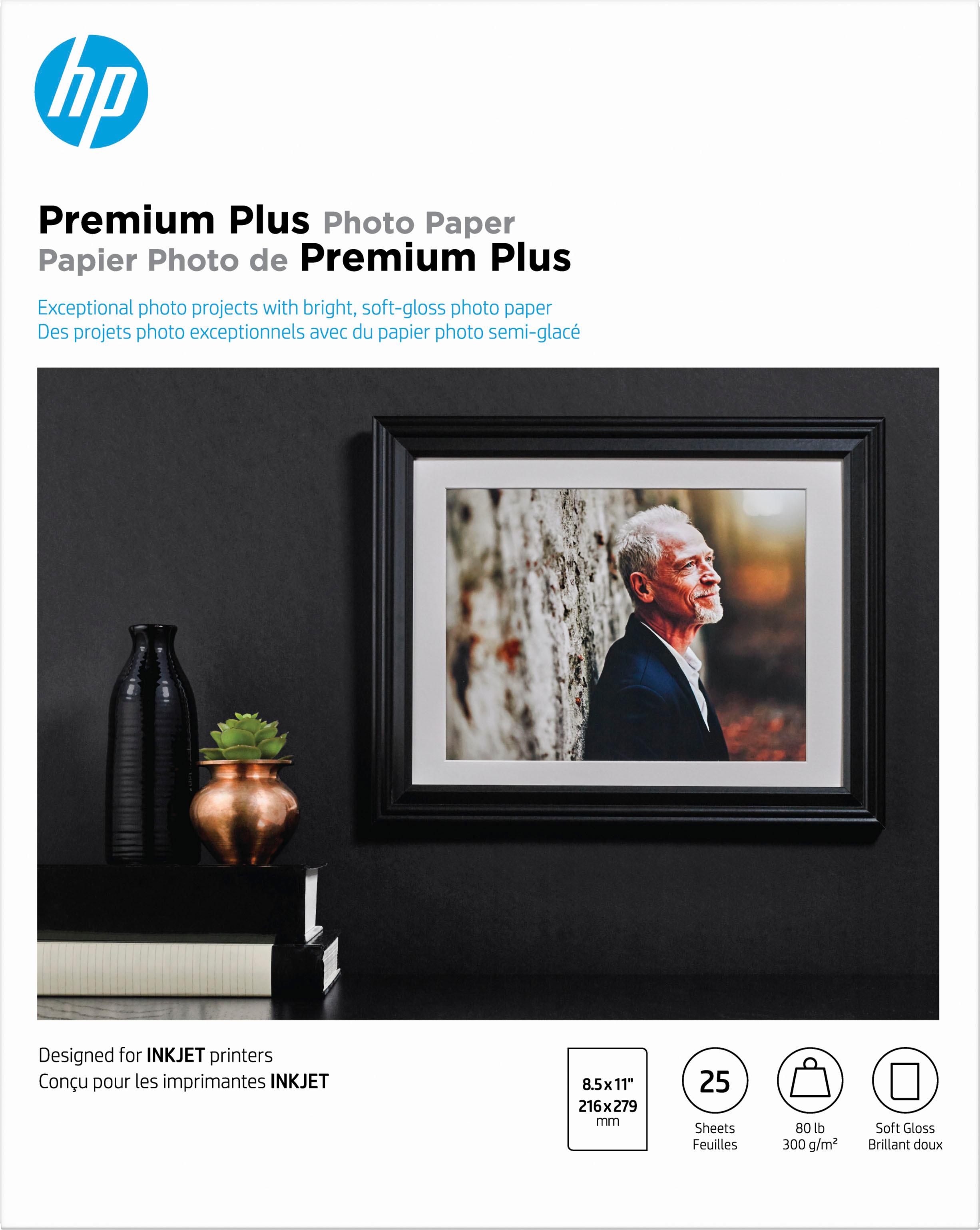 HP - Premium Plus Soft Glossy Inkjet Photo Paper - White