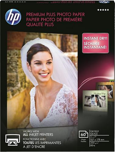 HP - Premium Plus Glossy Inkjet Photo Paper - White