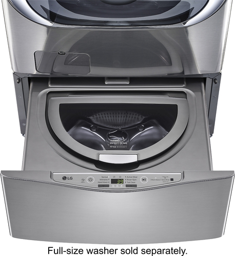 LG - SideKick 1.0 Cu. Ft. 6-Cycle High-Efficiency Pedestal Washer - Graphite Steel
