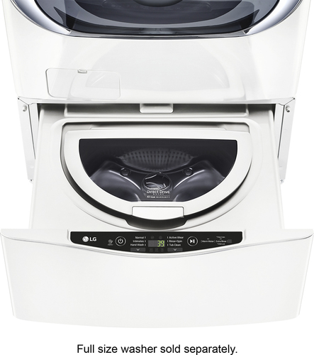 LG - SideKick 1.0 Cu. Ft. 6-Cycle High-Efficiency Pedestal Washer - White