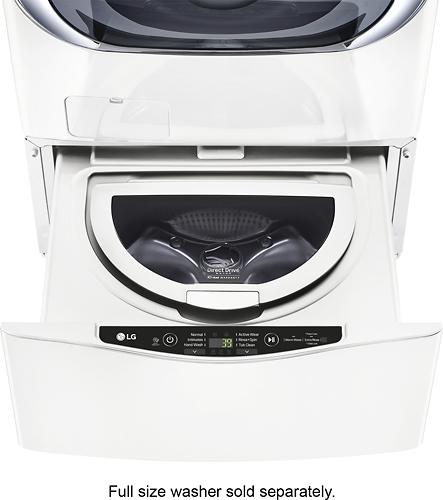LG - SideKick 1.0 Cu. Ft. 6-Cycle High-Efficiency Pedestal Washer - White