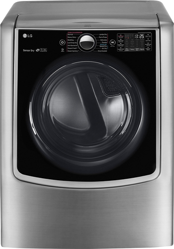 LG - 9.0 Cu. Ft. 14-Cycle Gas Dryer with Steam and Wi-Fi Connectivity - Graphite Steel