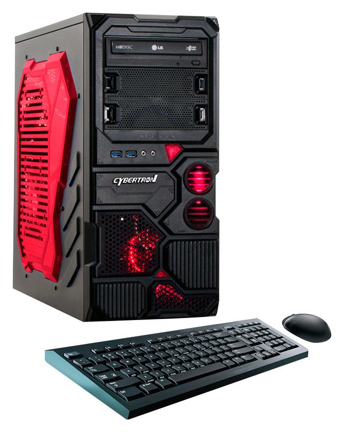 CybertronPC - Borg Q-750 Desktop - AMD FX-Series - 8GB Memory - 1TB Hard Drive - Red