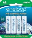 eneloop - Rechargeable AA Batteries (8-Pack) - Silver