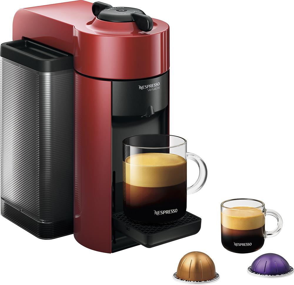 Nespresso - Vertuoline Evoluo Espresso Maker/coffeemaker - Cherry Red