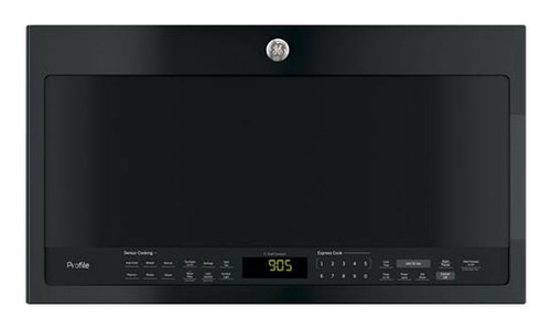 GE - Profile Series 2.1 Cu. Ft. Over-the-Range Microwave with Sensor Cooking - Black