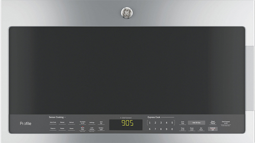 GE - Profile Series 2.1 Cu. Ft. Over-the-Range Microwave with Sensor Cooking - Stainless Steel