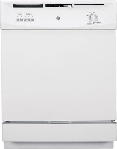 """GE 24"""" Front Control Built-In Dishwasher White GSD3301JWW"""