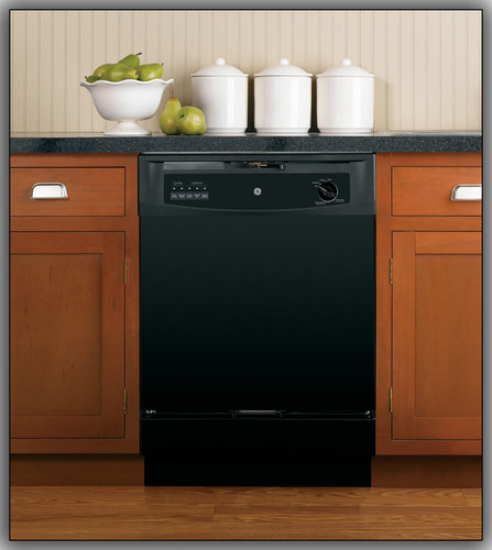 "GE 24"" Front Control Built-In Dishwasher Black GSD3301JBB"