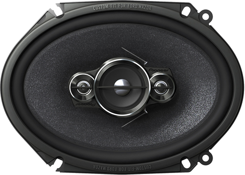 Pioneer - 6 x 8 4-Way Car Speakers with Mica Matrix Cones (Pair) - Black