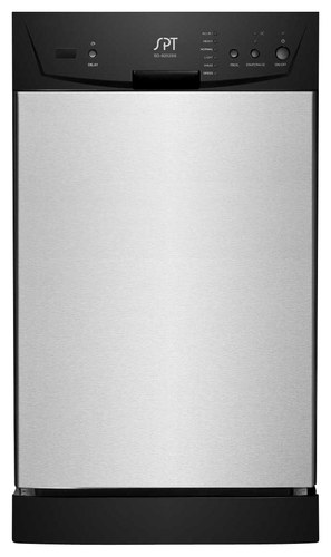 SPT - 18 Front Control Built-In Dishwasher with Stainless Steel Tub - Stainless Steel