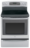 "Ge - Profile 30"" Self-cleaning Freestanding Electric Convection Range - Stainless-steel 4345387"