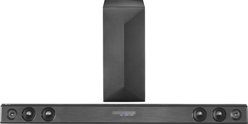 LG - 2.1-Channel Soundbar with Wireless Subwoofer - Black