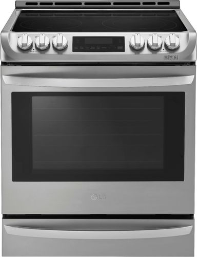 LG - 6.3 Cu. Ft. Self-Cleaning Slide-In Electric with ProBake Convection - Stainless Steel