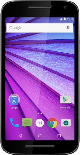 Virgin Mobile - Moto G (3rd Generation) with 8GB Memory Cell Phone - Black