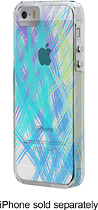 Case-Mate - Naked Print Case for Apple® iPhone® 5 and 5s - Clear/Blue/Green