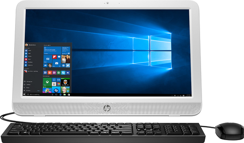 HP - 19.45 All-in-One - Intel Celeron - 4GB Memory - 500GB Hard Drive - Blizzard White