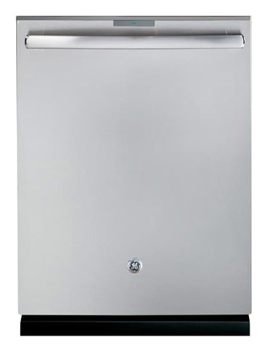 GE - Profile Series 24 Top Control Tall Tub Built-In Dishwasher with Stainless Steel Tub - Stainless Steel