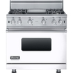 Viking - 5.1 Cu. Ft. Freestanding Gas Convection Range - White