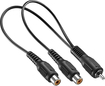 Insignia™ - Male-to-Female RCA Y-Adapter - Black