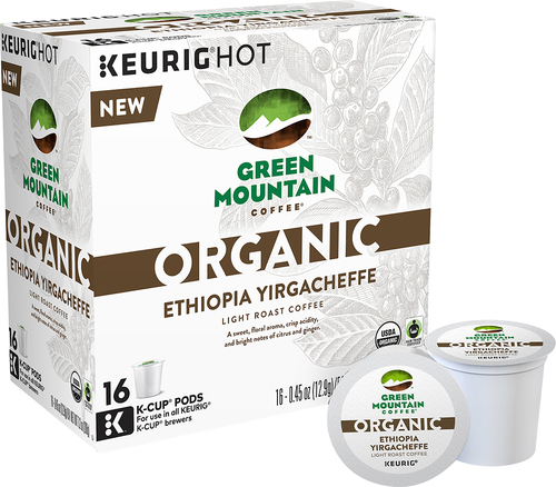 Keurig - Green Mountain Coffee Organic Ethiopia Yirgacheffe K-Cups (16-Pack) - Multi