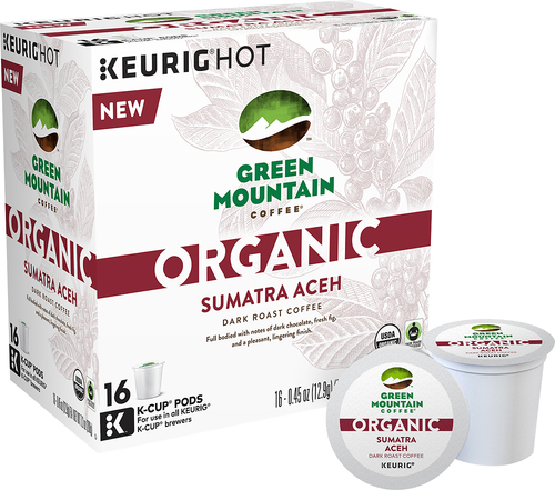 Keurig - Green Mountain Coffee Organic Sumatra Aceh Dark Roast K-Cups (16-Pack) - Multi