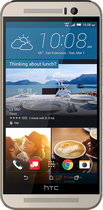 HTC - One (M9) 4G with 32GB Memory Cell Phone - Gold on Silver (Verizon Wireless)