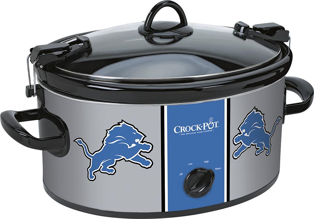 Crock-Pot - Cook and Carry Detroit Lions 6-Qt. Slow Cooker - Black