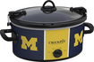 Crock-Pot - Cook and Carry University of Michigan 6-Qt. Slow Cooker - Blue/Yellow