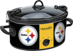Crock-Pot - Cook and Carry Pittsburgh Steelers 6-Qt. Slow Cooker - Black