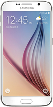 Samsung - Galaxy S6 with 128GB Memory Cell Phone - White Pearl (Sprint)