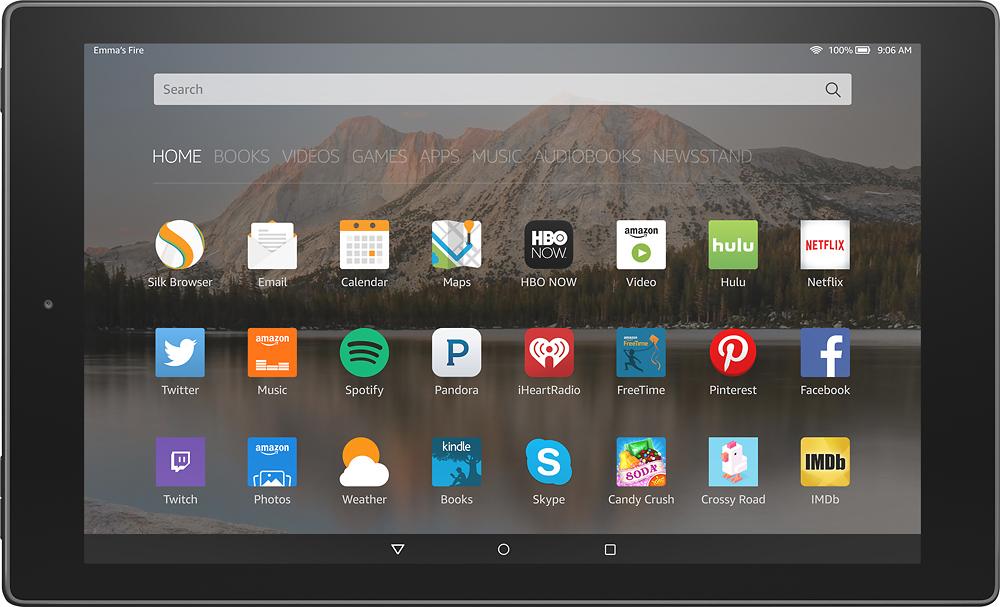 "Amazon - Fire Hd 10 - 10.1"" Tablet 16gb - Black"