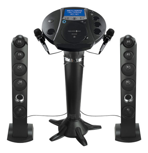 Singing Machine - Bluetooth Pedestal Karaoke System - Black
