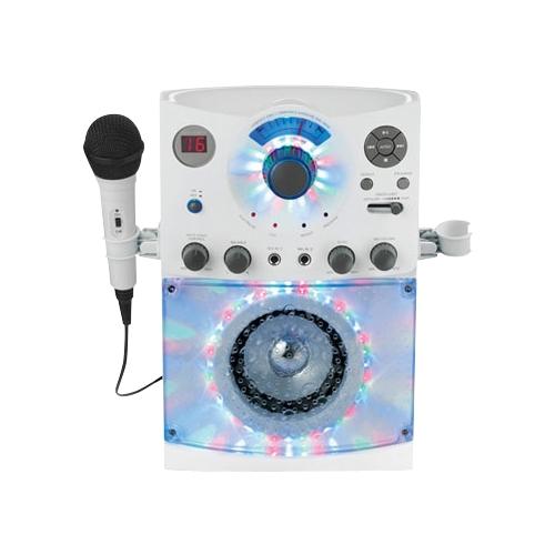 Singing Machine - Cd+g/MP3 Player Karaoke System - White