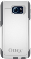 OtterBox - Commuter Series Case for Samsung Galaxy S6 Cell Phones - White/Gunmetal Gray