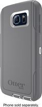 OtterBox - Defender Series Case for Samsung Galaxy S6 Cell Phones - White/Gunmetal Gray