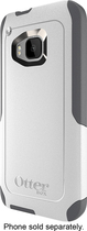 OtterBox - Commuter Series Case for HTC One (M9) Cell Phones - White/Gunmetal Gray