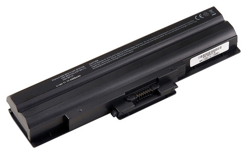 DENAQ - Lithium-Ion Battery for Select Sony Vaio Laptops - Black