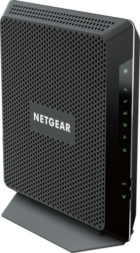 NETGEAR - Nighthawk AC1900 Wi-Fi Router with Docsis 3.0 Cable Modem - Black