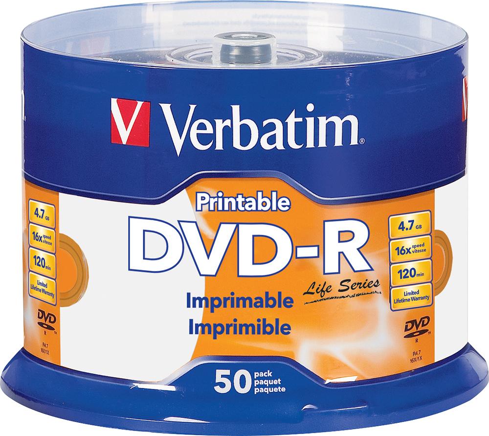 Verbatim - 16x Dvd-r Discs  - White